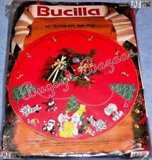 Bucilla JUNGLE BELLS TREE SKIRT Felt Christmas Kit -Panda,Zebra,Elephant- 83020