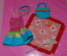 SKIPPER COUNTRY PICNIC OUTFIT W/ DRESS BLANKET HAT NET PURSE AND SHOES
