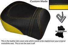 BLACK & YELLOW CUSTOM FITS SUZUKI INTRUDER VL 1500 98-04 REAR SEAT COVER