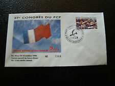 FRANCE - enveloppe 21/12/1990 27e congres du PCF (cy7) french (S)