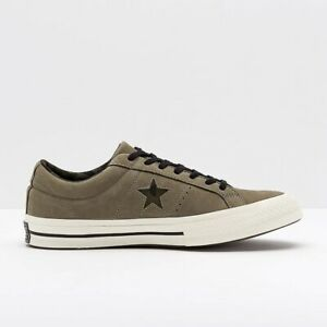 Converse Unisex CONS One Star Ox Dark Stucco Brown Lace Up Camo Leather Trainers