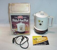 1980  VINTAGE FLOWER POWER POLY HOT POT UNUSED WITH ORIGINAL BOX