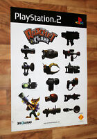 2002 Ratchet & Clank Game Store Very Rare Promo Poster Playstation 2 PS2 Sony..