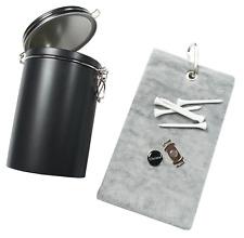 Golfgeschenk-Set: Golf-Caddytuch + Schuh-Clip + personalisiertem Golfball Marker