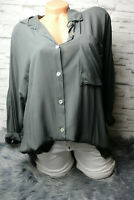 Italy Shirt Tunika Bluse Gr. 36 38 40 42 Oversized Fledermausärmel blogger grau