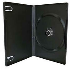 100 100x Black Single DVD CD Cover Cases 14mm - Holds 1 Discs