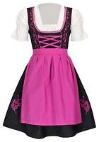 Dirndl Set 3 tlg.Trachtenkleid Kleid, Bluse, Schürze, Gr. 34-52 Neu OVP SchPink