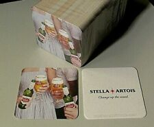 """NEW 125 Stella Artois """"Change up the usual"""" Beer Coasters Bar Glass Mat Coaster"""