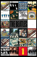 "BEATLES POSTER - ALBUM COVERS COLLAGE - 91 x 61 cm 36"" x 24"""
