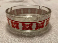 Collectors Miller High Life Beer Ashtray Round Glass