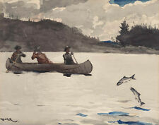 Homer Winslow Fishing For Ouananiche Lake St John Print 11 x 14  #6209