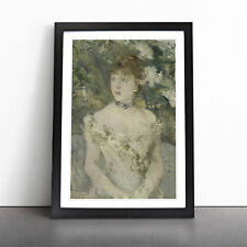 More details for young girl in a ball gown by berthe morisot wall art framed print picture