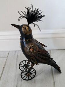 Mullanium Jim Tori Mullan Large Crow Raven Handmade Steampunk Bird