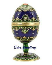 Gorgeous TAYLOR AVEDON Keepsake Trinket Egg Jewellery MUSIC Box Model MB1055
