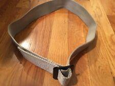 Men's Tactical Military Combat Nylon Canvas Belt Buckle Size Large Tan