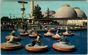 "1950s DISNEYLAND California Postcard ""FLYING SAUCERS"" Ride View #E-13 UNUSED"
