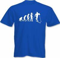 Skiing T-Shirt Mens Funny Skier Ski Evolution Of