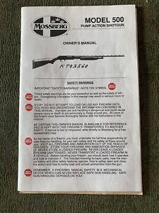 Vintage 1995 Mossberg 500 Pump Shotgun Gun Owners Manual