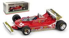 Brumm Ferrari 312 T4 #12 Monaco GP 1979 - Gilles Villeneuve 1/43 Scale