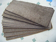 22 inches (66cm) wide STAIR TREADS  STAIR PADS,   brown fleck twist pile #1461