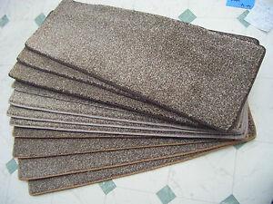 22 x 66 cm STAIR TREADS  UNIQUE brown fleck twist pile BLEACH CLEANABLE  #1461