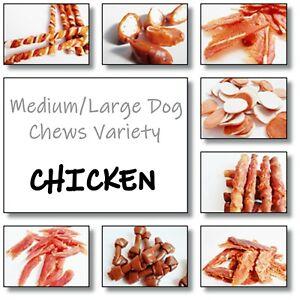 BESTSELLING Chicken Medium/Large DOG CHEWS VARIETY - Treats, snacks, pet food