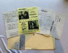 Gilby Clarke Concert Contract GNR 1995 Pittsburgh