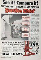 Lot of 3 Vintage Blackhawk Service Chief Jacks Print Ad Redline Special