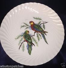 "BURLEIGH BURGESS LEIGH BIRDS ON BRANCH SALAD PLATE 7 3/4"" SWIRL WESTERN ROSELLA"