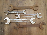 Bundle of 5 Massive Steam Engine Spanners 7/8 BSW - 1 1/2 W 32570