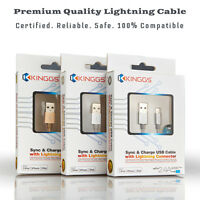 Apple MFi Certified Nylon Braided Lightning Charger Cable for iPhone iPad 5ft