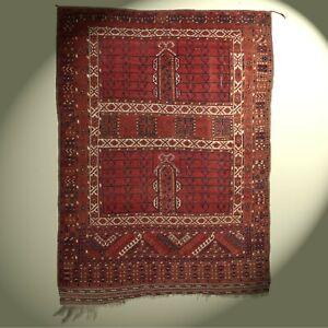 Fantastischer Hatschlou Teppich Afghanistan 238x176 rot Afghan rug Tapis Tappeto
