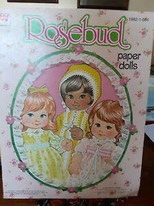 Rosebud Paper Dolls by Whitman UNCUT 1978
