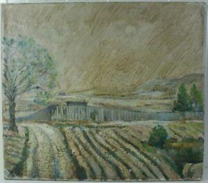 Hans Wagner, Wiesbaden, 1902-1980,Landschaft in der Spätfolge von Van Gogh,1930