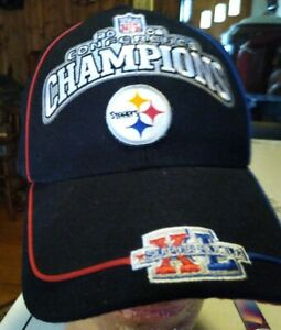 Pittsburgh Steelers 2006 Conference Champion Bear Souvenir Strapback Hat One...
