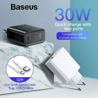 Baseus Quick Charge 4.0 3.0 30W USB Charger PD Fast Charger for iPhone Huawei