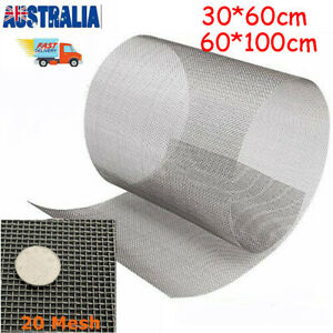 20 Mesh 304 Stainless Steel Woven Wire Filtration Filter Screen Sheets Roll AU