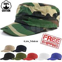 Mens Cadet Patrol Army Military 100% Cotton Castro Cap Golf Summer Baseball Hat