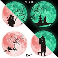 Luminous Moon Wall Sticker Glow in the Dark Home Art Decor Kids Room Decal