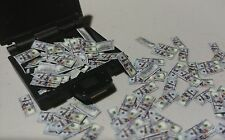 1/18 scale loose money Lot of 150 $100 bills Plus briefcase for 3.75 GI Joe