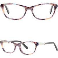 Eckig Plastik Lila Damen Brille Brillengestell Leichte Fassung Federbügel Acetat
