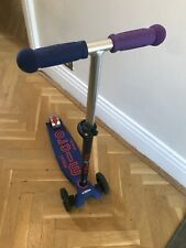 Maxi Micro Deluxe Led Scooter: Blue