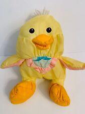 Vintage Fisher Price Puffalump Stuffed Yellow Duck #8011 #8012 1992 Bib Chick