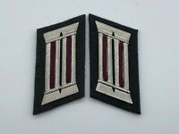 Vintage East German Civil Defense Officer -RARE- Collar Tabs Pair UNISSUED
