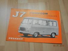 catalogue PEUGEOT J7 fourgon a glaces latérales 1968