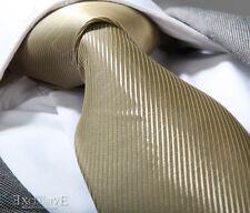 BEIGE GOLD SILK TIE & HANKY - ITALIAN DESIGNER Milano Exclusive