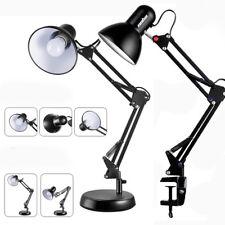 Architect Desk Lamp Swing Arm Drafting Light W/ Metal Clamp Vintage Work Office