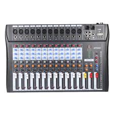 Digital Mikrofon Line Audio Mixer Mischpult 12 Kanal 48V Phantomspeisung A7R8