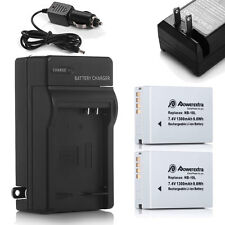 Battery for CANON PowerShot SX50 HS SX40 HS G1X G15 G16 / 2 Pcs NB-10L + Charger