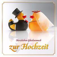 Lustige Enten-Hochzeitskarte + Umschlag / originelle Glückwunschkarte Hochzeit